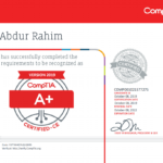 CompTIA A+ ce  certified